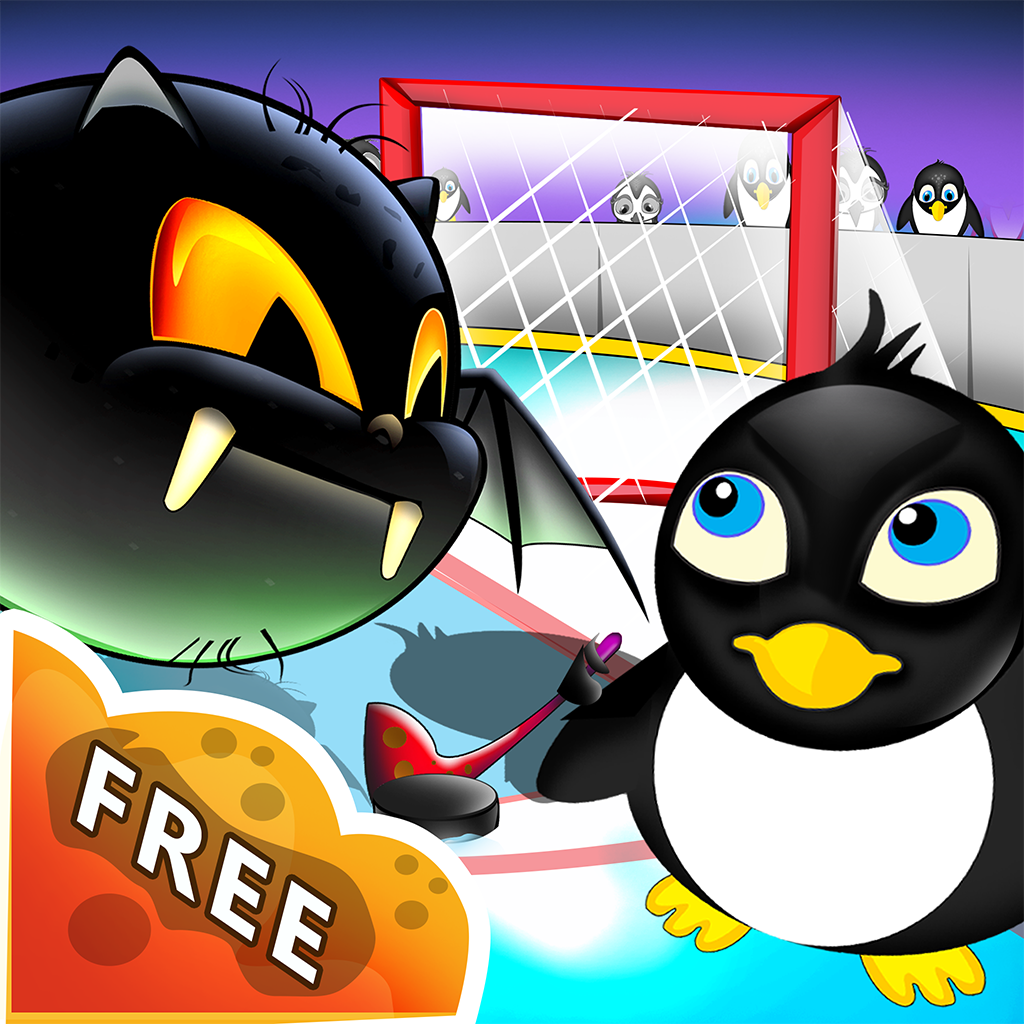 penguins ice kingdom puffy fluffy air hockey league by. Black Bedroom Furniture Sets. Home Design Ideas